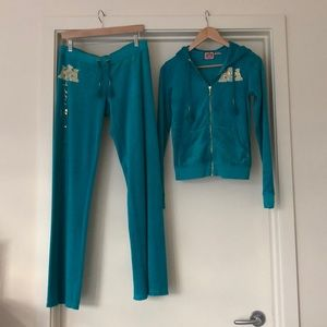 Juicy couture teal track suit